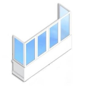 Балкон под ключ П-образный